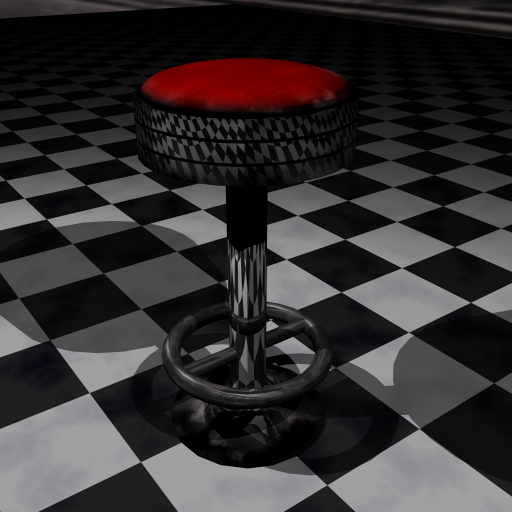 Barstool with wear and tear