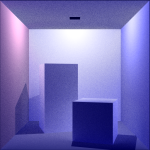 Color Cornell Box: Boxes (with Point Light) Rays Per Pixel: 100 Max Ray Depth: 10