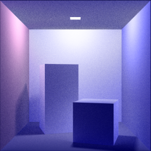 Color Cornell Box: Boxes (with Area Light) Rays Per Pixel: 100 Max Ray Depth: 10