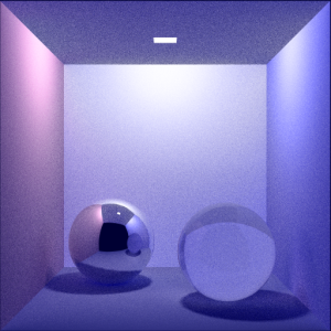 Color Cornell Box: Spheres (with Area Light) Rays Per Pixel: 100 Max Ray Depth: 10