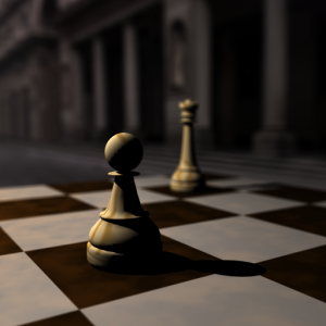 Depth of Field Scene: Pawn in Focus